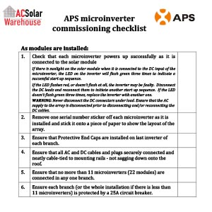 APS commissioning checklist Rev 2.0-PREVIEW