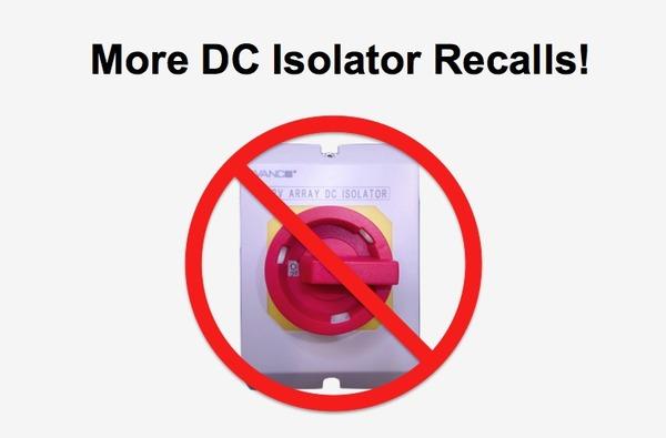 DC isolator recalls