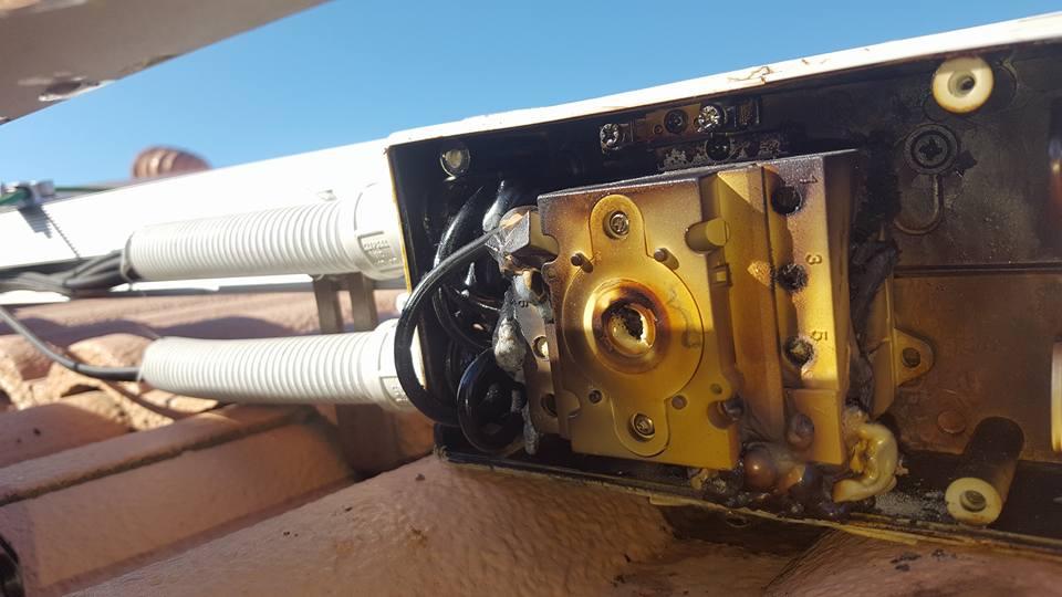 Burnt DC Isolator 36B