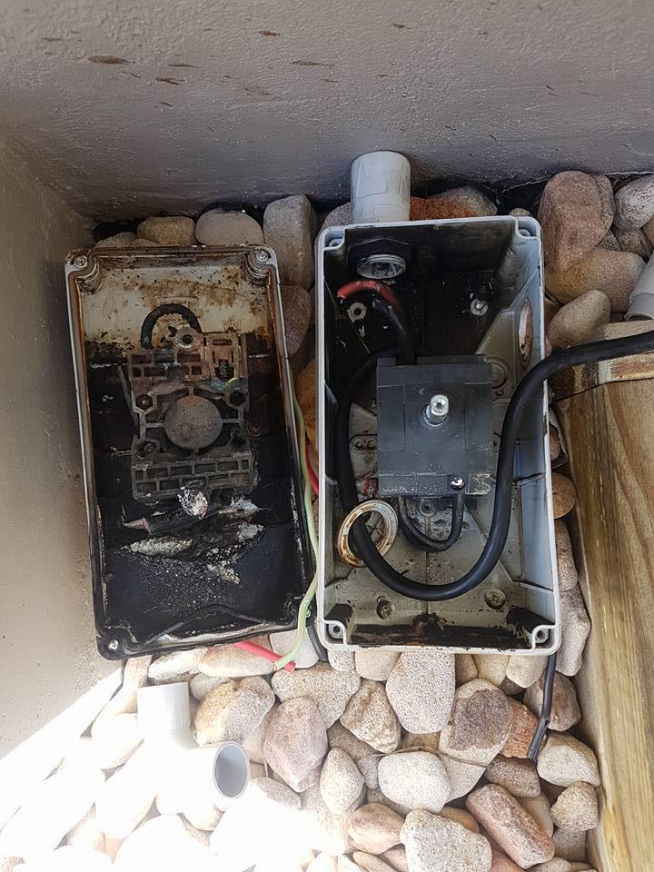 Burnt DC Isolator 37