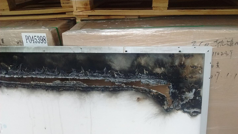 Burnt solar module