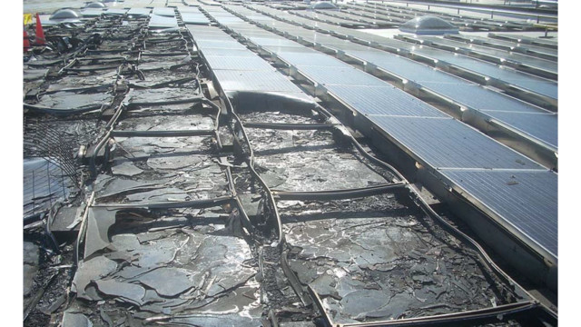 Burnt Solar Array 7