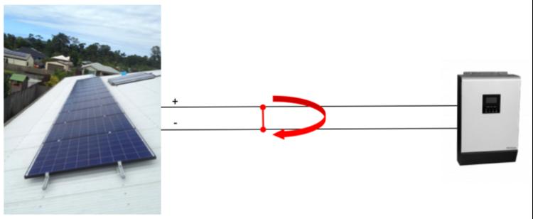 Parallel DC arc fault